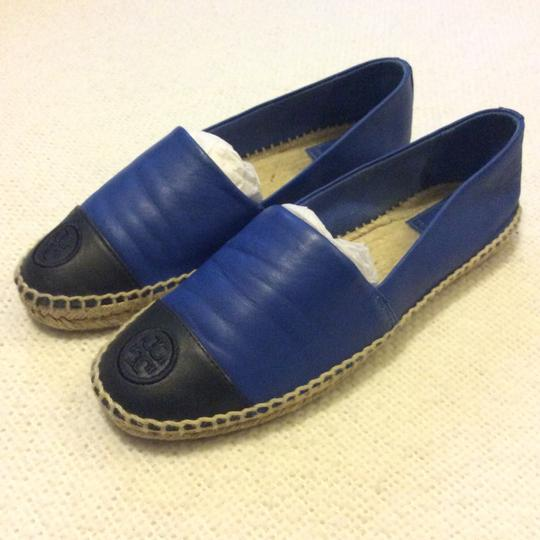 Tory Burch Black and Blue Flats Image 1