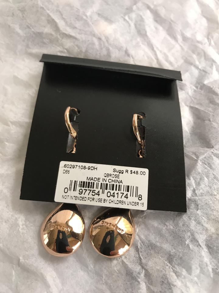 Givenchy Rose Gold Swarovski Pavé & Colored Crystals Drop Earrings 4% off  retail