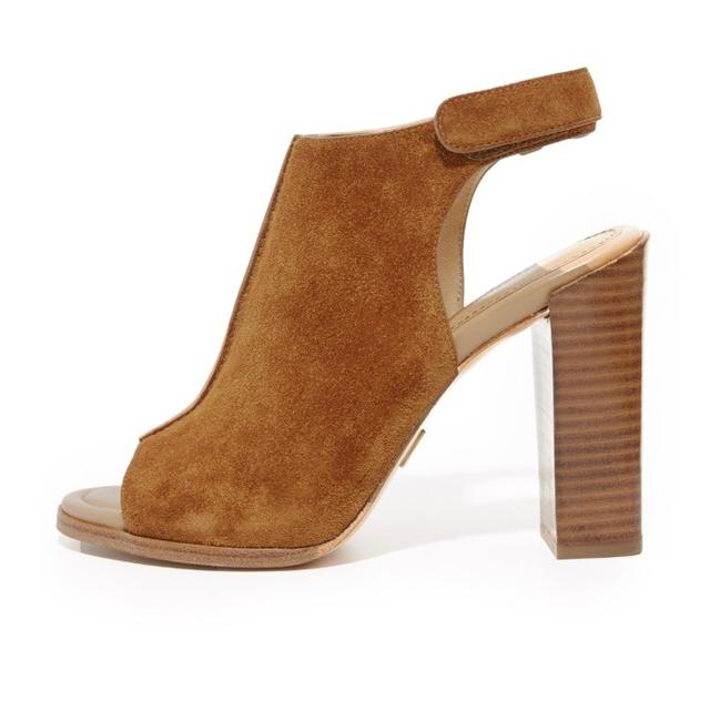 Michael Kors Tan Maeve Open Toe Booties Mules/Slides Size US 7.5 Regular (M, B) Michael Kors Tan Maeve Open Toe Booties Mules/Slides Size US 7.5 Regular (M, B) Image 1