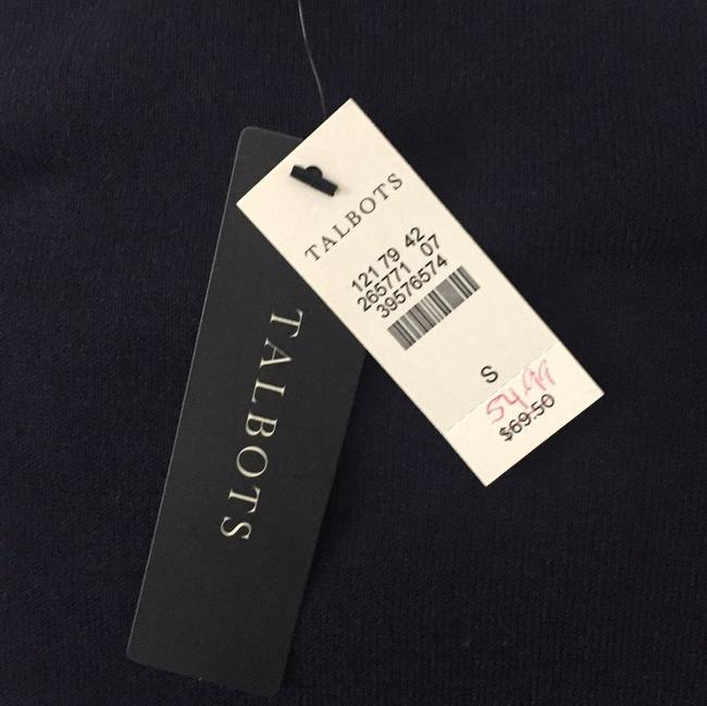Talbots Top Navy with white beading Image 5