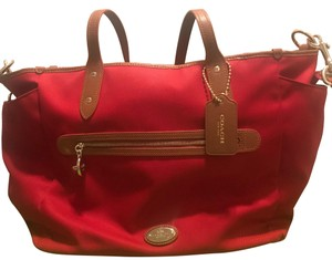 Coach Red Diaper Bag
