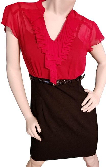 Preload https://img-static.tradesy.com/item/23074012/alyx-red-and-black-ruffled-top-with-pencil-skirt-short-workoffice-dress-size-8-m-0-1-650-650.jpg