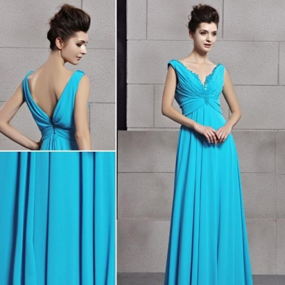 Blue Long Formal Dress Size 4 (S) - Tradesy