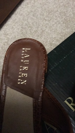 Ralph Lauren Brown and ivory Sandals Image 3