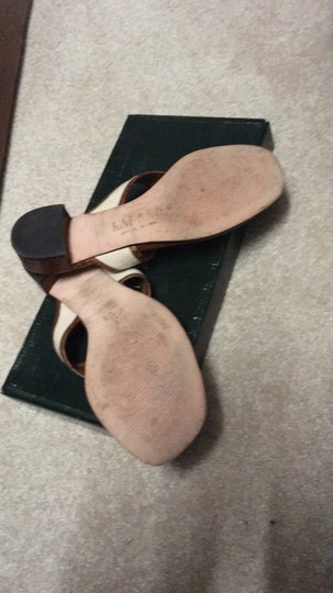 Ralph Lauren Brown and ivory Sandals Image 4