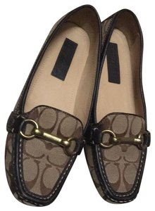 Coach Brown and beige Flats