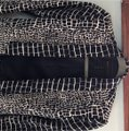 BCBGMAXAZRIA Chic Animal Print Fitted Navy and Ivory Blazer Image 6