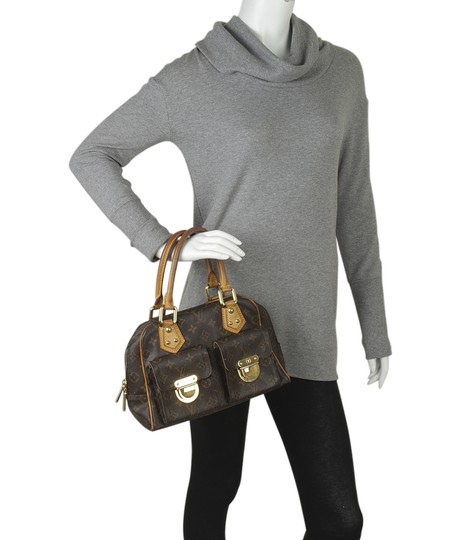 Louis Vuitton Coated Canvas Satchel in Brown Image 1