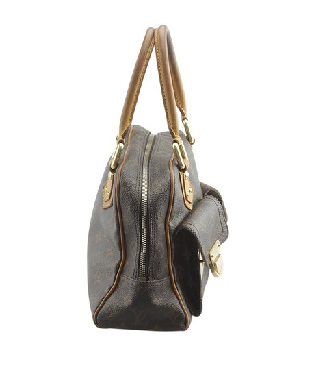 Louis Vuitton Coated Canvas Satchel in Brown Image 2
