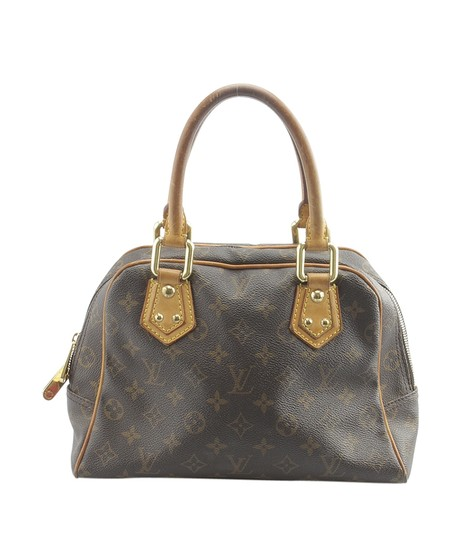Louis Vuitton Coated Canvas Satchel in Brown Image 4