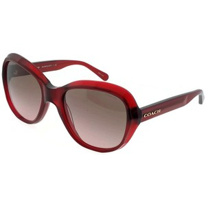 a60118a3fd6 Coach HC8197-502914 Square Women s Burgundy Frame Brown Lens Sunglasses