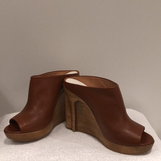 MM6 Maison Martin Margiela light brown Mules Image 4