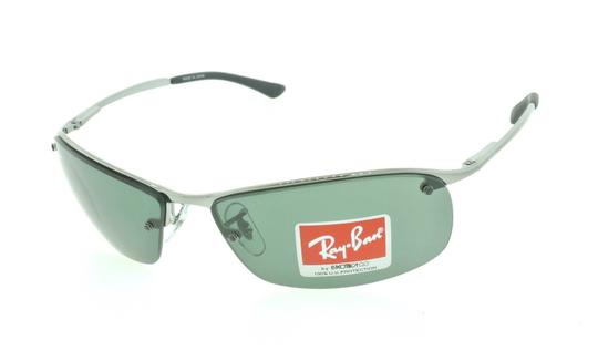 Ray-Ban Ray Ban RB 3183 004/71 Gunmetal / Green Aviator Wrap Sunglasses Image 1