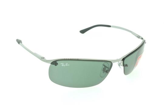 Ray-Ban Ray Ban RB 3183 004/71 Gunmetal / Green Aviator Wrap Sunglasses Image 2