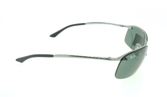 Ray-Ban Ray Ban RB 3183 004/71 Gunmetal / Green Aviator Wrap Sunglasses Image 4