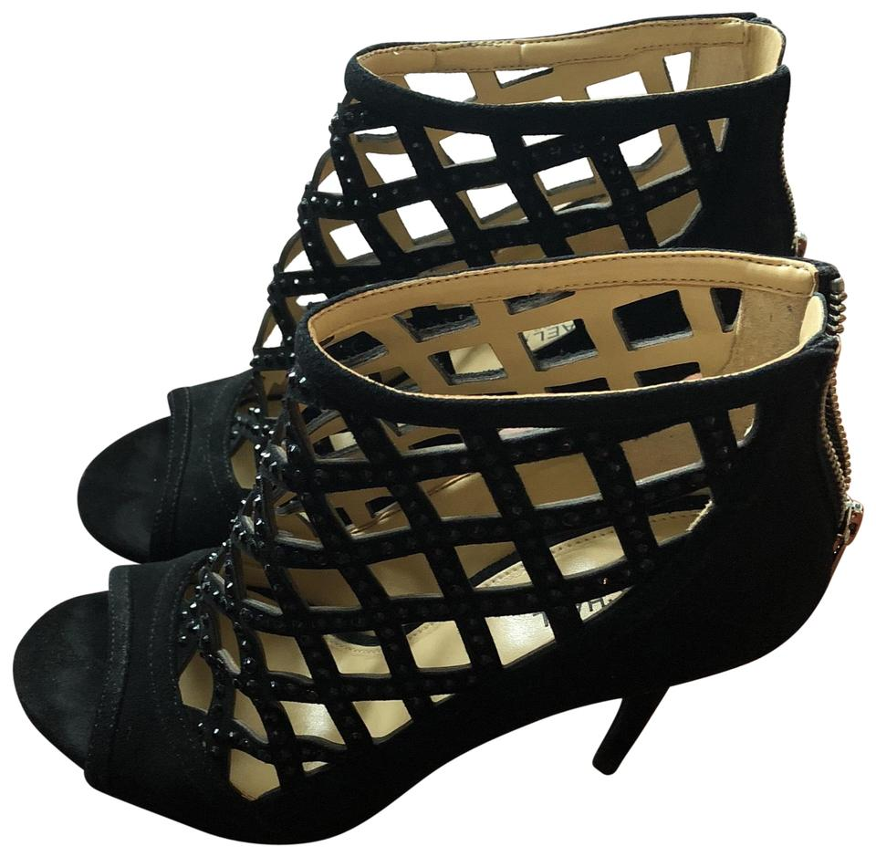 520901d6cca MICHAEL Michael Kors Black Women s Yvonne Rhinestone and Suede Cage ...