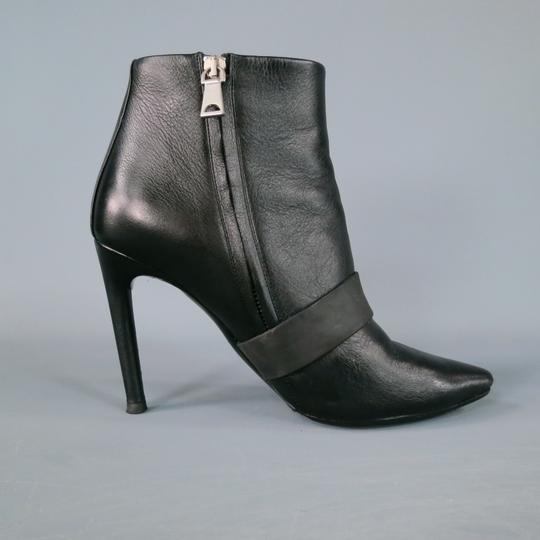 Proenza Schouler Ankle Strap Rubber Pointed Toe Black Boots