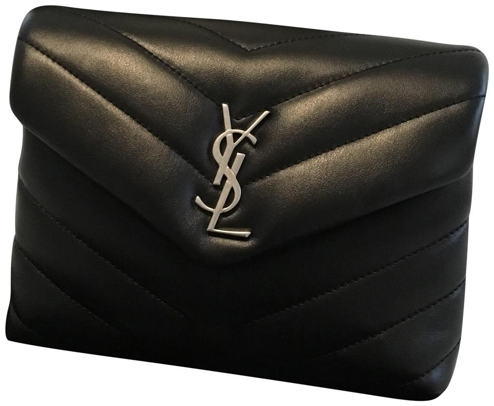 Saint Laurent Monogram Loulou Small Toy Black Calfskin Leather Cross Body  Bag 696a429af013b