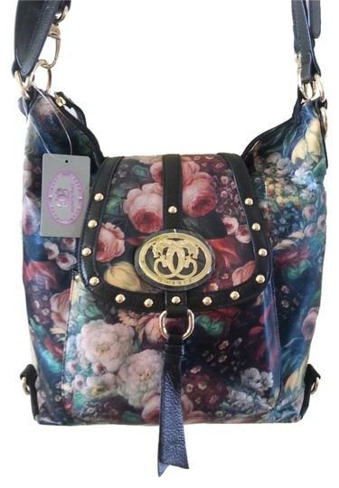 Preload https://img-static.tradesy.com/item/2307485/sharif-multi-floral-black-trim-leather-shoulder-bag-0-0-540-540.jpg