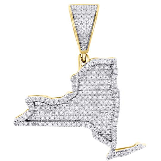 Preload https://img-static.tradesy.com/item/23074933/jewelry-for-less-yellow-gold-10k-diamond-new-york-empire-state-map-pendant-63-ct-charm-0-0-540-540.jpg