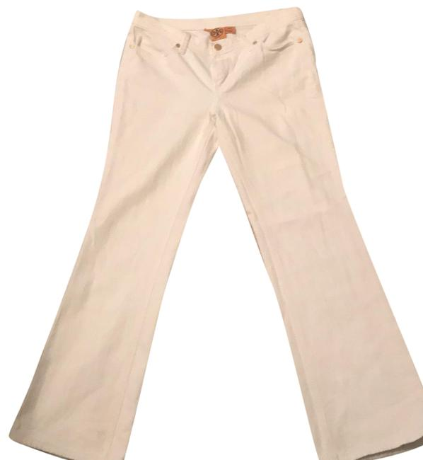 Preload https://img-static.tradesy.com/item/23074973/tory-burch-white-denim-light-wash-classic-boot-cut-jeans-size-29-6-m-0-1-650-650.jpg