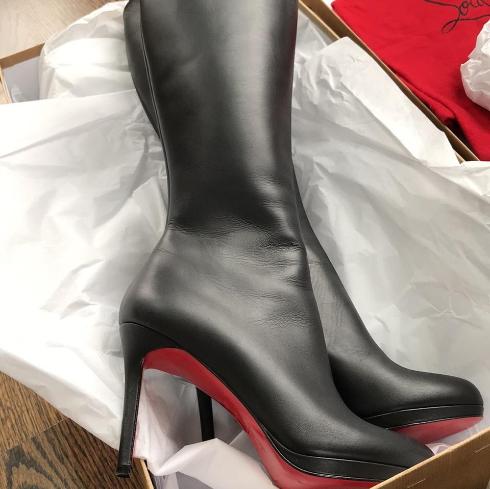 new style 2181f 3d7be Christian Louboutin Black Botalili Leather Matte Stiletto Classic  Boots/Booties Size EU 38.5 (Approx. US 8.5) Regular (M, B) 41% off retail