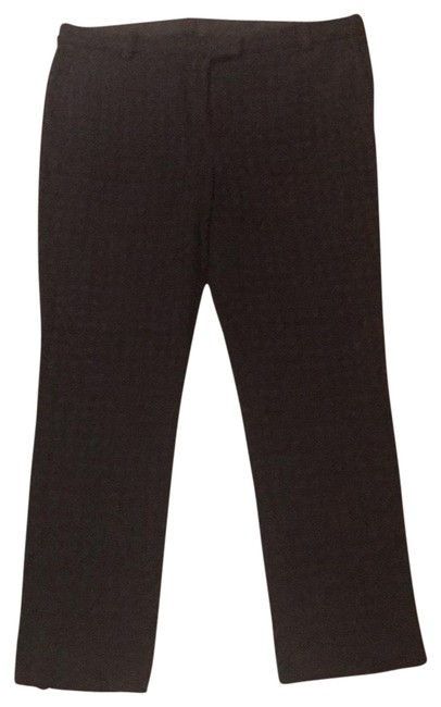 Item - Navy Blue Textured Stretch with Flat Front Hook Closure Pants Size 8 (M, 29, 30)