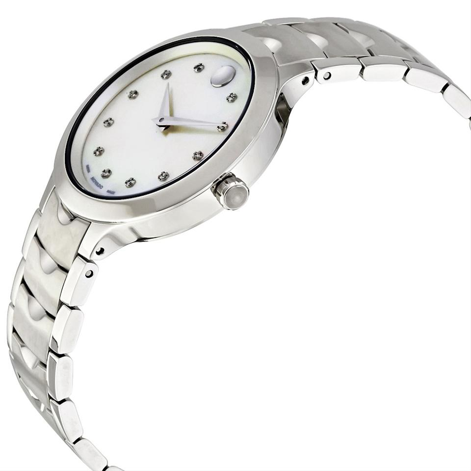 mother two white dial of luno watches pearl ladies tone movado watch