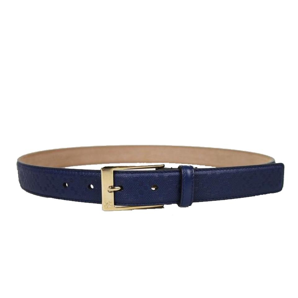 224309b59 Gucci Gucci Men's Blue Hilary Lux Diamante Belt 345658 Size: 40 Image 0 ...