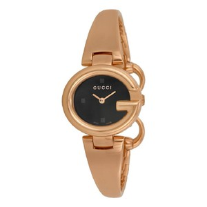 Gucci Gucci Guccissima Black Dial Rose Gold Authentic Ladies Watch