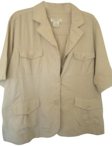 Susan Bristol Button Down Shirt Khaki