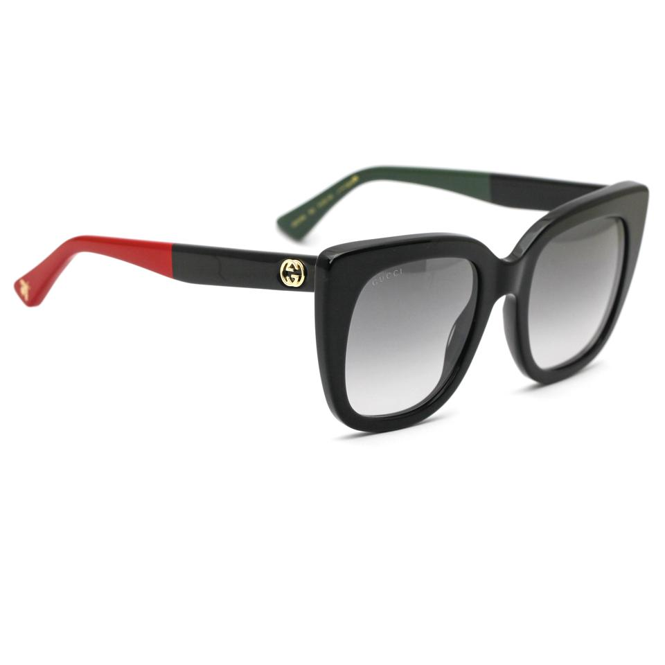 3a6d52f92 Gucci Gucci 0163S Cat Eye Sunglasses Black Frame with Gradient Lenses Image  0 ...