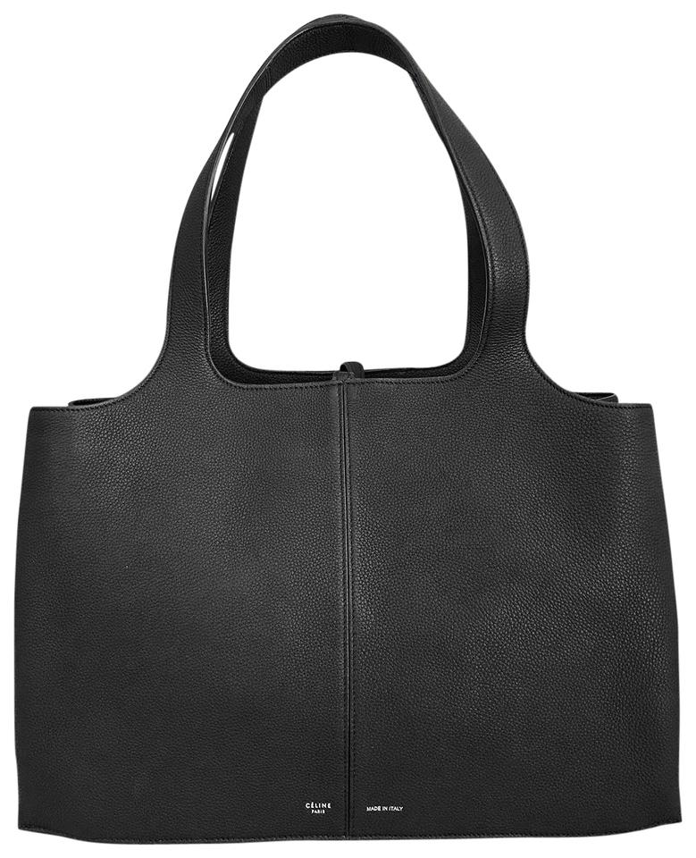 Céline Tri-Fold Medium Black Calfskin Leather Shoulder Bag - Tradesy afb8f4e3e9f7d