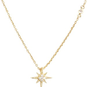 Tai TAI Simple Chain With CZ Starburst Necklace STARBURST - GOLD NWT