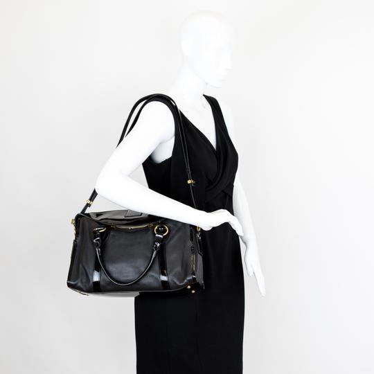 Marc Jacobs Leather Patent Leather Satchel in Black Image 8