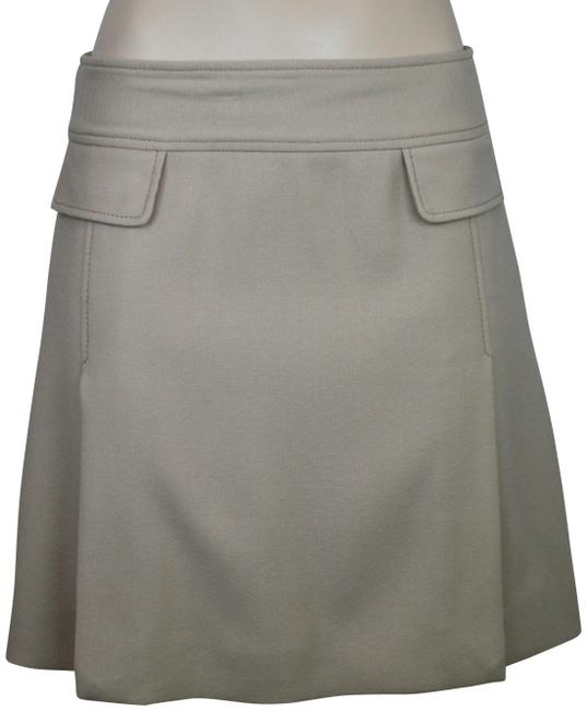 Item - Beige Nude Tan Brown Dolce & Gabbana Wool Front Flap Lined Skirt Size 6 (S, 28)