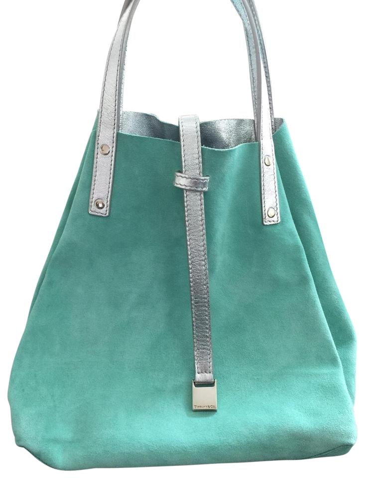 138c402eb1 Tiffany & Co. Reversible Purse Silver/Tiffany Blue Suede Leather ...