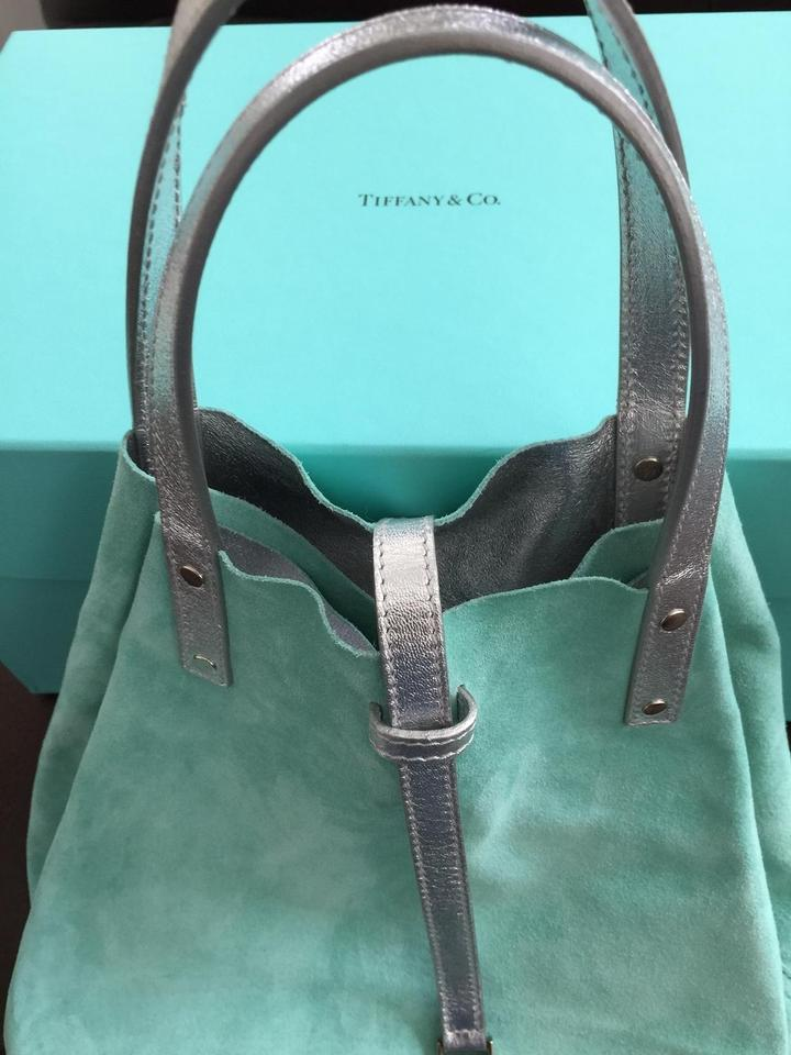 78628e0a1d Tiffany & Co. Reversible Purse Silver/Tiffany Blue Suede Leather Satchel -  Tradesy