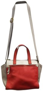 Fossil Satchel in Ivory/Coral