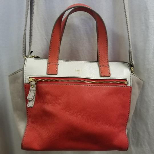 Fossil Satchel in Ivory/Coral Image 1