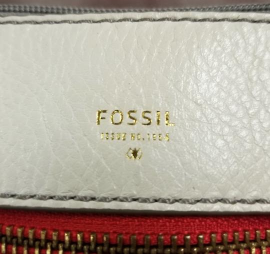 Fossil Satchel in Ivory/Coral Image 3