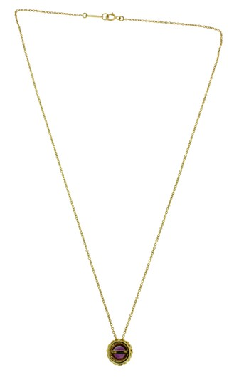 Tiffany & Co. Tiffany amethyst pendant necklace in 18k yellow gold 16