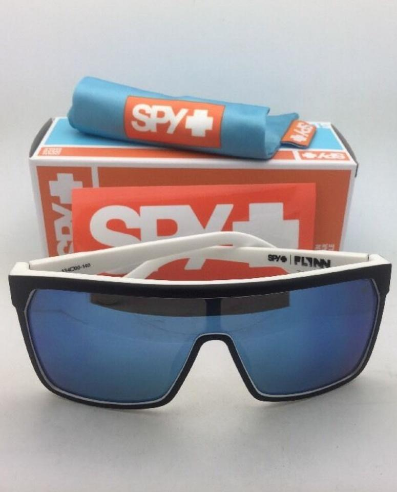 6cf05125cb Spy Flynn Whitewall Matte Black On White Frame+blue Mirror New Optic ...