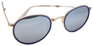 Ray-Ban RAY-BAN Folding Sunglasses 3517 001/30 51-22 Gold Blue w/Silver Mirror
