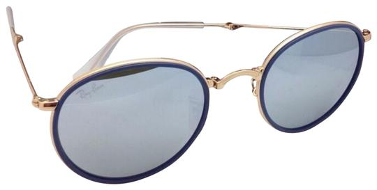 Preload https://img-static.tradesy.com/item/23076534/ray-ban-rb-3517-00130-gold-and-blue-w-silver-mirror-folding-00130-51-22-wsilver-sunglasses-0-1-540-540.jpg