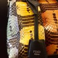 Fendi Python Multi-colored Studded Silver Hardware Satchel in Multi Image 6
