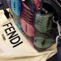 Fendi Python Multi-colored Studded Silver Hardware Satchel in Multi Image 9