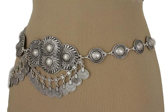 Alwaystyle4you Women Belt Antique Vintage Silver Ethnic Moroccan Metal Plate Charms Image 11