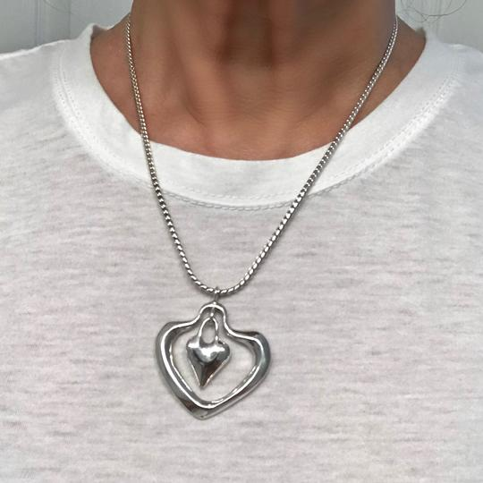 Robert Lee Morris Signed One-of-a-kind Highly Collectible Snake Chain Double Heart Image 1