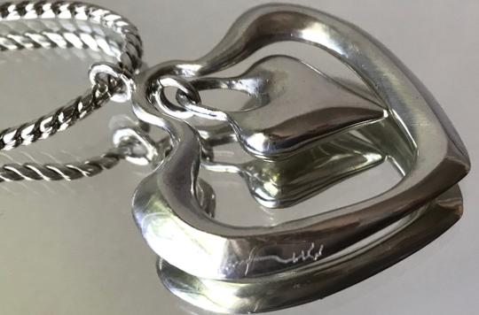 Robert Lee Morris Signed One-of-a-kind Highly Collectible Snake Chain Double Heart Image 2